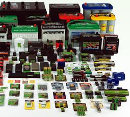 Array of Interstate Batteries available